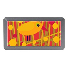 Yellow Bird Memory Card Reader (mini) by Valentinaart
