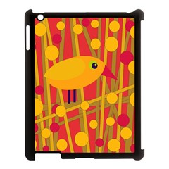 Yellow Bird Apple Ipad 3/4 Case (black) by Valentinaart