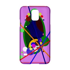 Pink Artistic Abstraction Samsung Galaxy S5 Hardshell Case  by Valentinaart