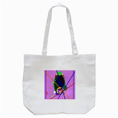 Pink Artistic Abstraction Tote Bag (white) by Valentinaart