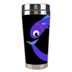 Blue Fishes Stainless Steel Travel Tumblers by Valentinaart