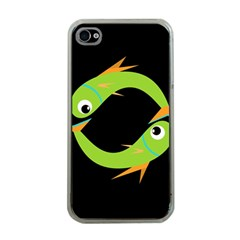 Green Fishes Apple Iphone 4 Case (clear) by Valentinaart