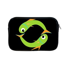 Green Fishes Apple Ipad Mini Zipper Cases by Valentinaart