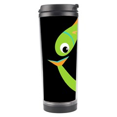 Green Fishes Travel Tumbler by Valentinaart