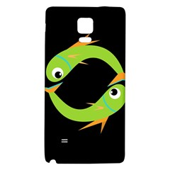 Green Fishes Galaxy Note 4 Back Case by Valentinaart