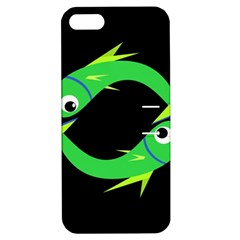 Green Fishes Apple Iphone 5 Hardshell Case With Stand by Valentinaart