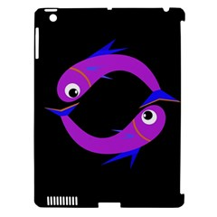 Purple Fishes Apple Ipad 3/4 Hardshell Case (compatible With Smart Cover) by Valentinaart