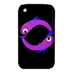 Purple Fishes Apple Iphone 3g/3gs Hardshell Case (pc+silicone) by Valentinaart