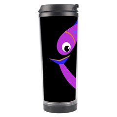 Purple Fishes Travel Tumbler by Valentinaart