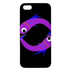 Purple Fishes Iphone 5s/ Se Premium Hardshell Case by Valentinaart