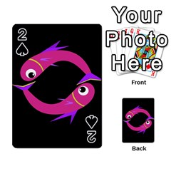 Magenta Fishes Playing Cards 54 Designs  by Valentinaart