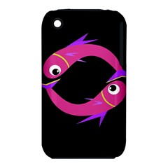 Magenta Fishes Apple Iphone 3g/3gs Hardshell Case (pc+silicone) by Valentinaart