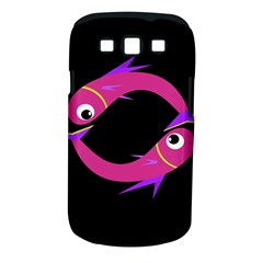 Magenta Fishes Samsung Galaxy S Iii Classic Hardshell Case (pc+silicone) by Valentinaart
