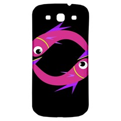 Magenta Fishes Samsung Galaxy S3 S Iii Classic Hardshell Back Case by Valentinaart
