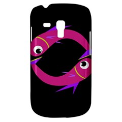 Magenta Fishes Samsung Galaxy S3 Mini I8190 Hardshell Case by Valentinaart