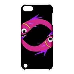 Magenta Fishes Apple Ipod Touch 5 Hardshell Case With Stand by Valentinaart