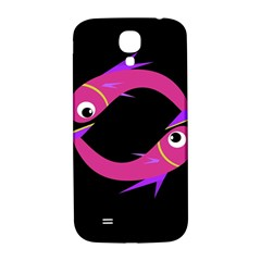Magenta Fishes Samsung Galaxy S4 I9500/i9505  Hardshell Back Case by Valentinaart