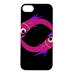 Magenta Fishes Apple Iphone 5s/ Se Hardshell Case by Valentinaart