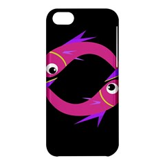 Magenta Fishes Apple Iphone 5c Hardshell Case by Valentinaart