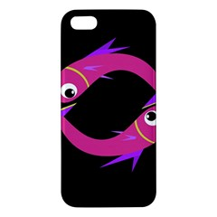 Magenta Fishes Iphone 5s/ Se Premium Hardshell Case by Valentinaart
