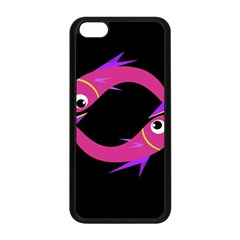 Magenta Fishes Apple Iphone 5c Seamless Case (black) by Valentinaart