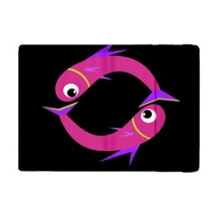 Magenta Fishes Ipad Mini 2 Flip Cases by Valentinaart