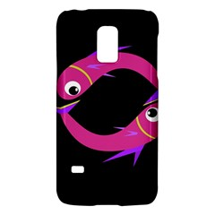Magenta Fishes Galaxy S5 Mini by Valentinaart