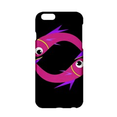 Magenta Fishes Apple Iphone 6/6s Hardshell Case by Valentinaart