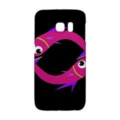 Magenta Fishes Galaxy S6 Edge by Valentinaart