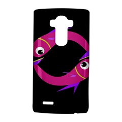 Magenta Fishes Lg G4 Hardshell Case by Valentinaart