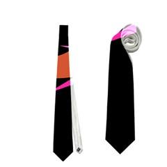 Orange Fishes Neckties (two Side)  by Valentinaart
