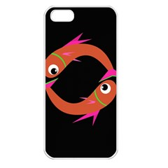Orange Fishes Apple Iphone 5 Seamless Case (white) by Valentinaart