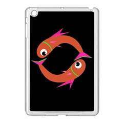 Orange Fishes Apple Ipad Mini Case (white) by Valentinaart