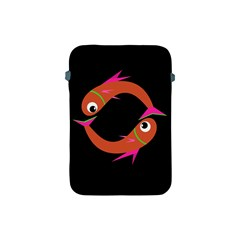Orange Fishes Apple Ipad Mini Protective Soft Cases by Valentinaart