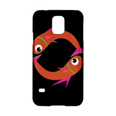 Orange Fishes Samsung Galaxy S5 Hardshell Case  by Valentinaart