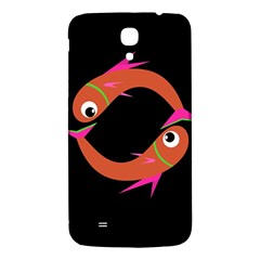 Orange Fishes Samsung Galaxy Mega I9200 Hardshell Back Case by Valentinaart