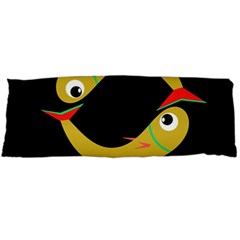 Yellow Fishes Body Pillow Case Dakimakura (two Sides) by Valentinaart