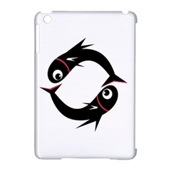 Black Fishes Apple Ipad Mini Hardshell Case (compatible With Smart Cover) by Valentinaart