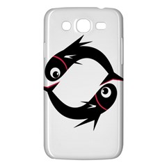 Black Fishes Samsung Galaxy Mega 5 8 I9152 Hardshell Case  by Valentinaart