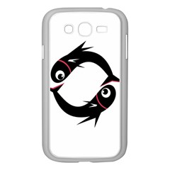 Black Fishes Samsung Galaxy Grand Duos I9082 Case (white) by Valentinaart
