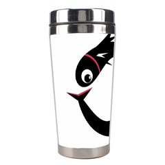 Black Fishes Stainless Steel Travel Tumblers by Valentinaart