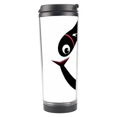 Black Fishes Travel Tumbler by Valentinaart