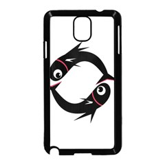 Black Fishes Samsung Galaxy Note 3 Neo Hardshell Case (black) by Valentinaart