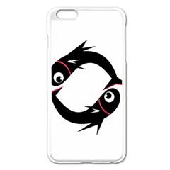 Black Fishes Apple Iphone 6 Plus/6s Plus Enamel White Case by Valentinaart