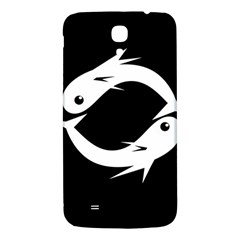 White Fishes Samsung Galaxy Mega I9200 Hardshell Back Case by Valentinaart