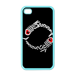 Abstract Fishes Apple Iphone 4 Case (color) by Valentinaart