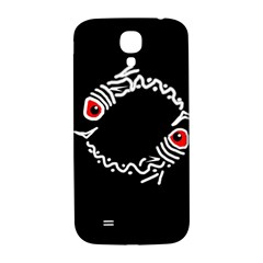 Abstract Fishes Samsung Galaxy S4 I9500/i9505  Hardshell Back Case by Valentinaart