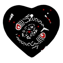 Abstract Fishes Ornament (heart)  by Valentinaart