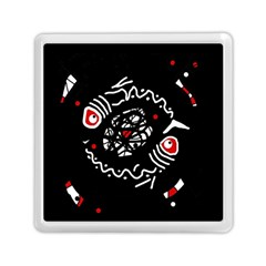 Abstract fishes Memory Card Reader (Square)  by Valentinaart