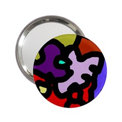 Colorful Abstraction By Moma 2 25  Handbag Mirrors by Valentinaart